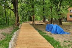 Wykonanie tarasów drewnianych - nad rzeką Białucha