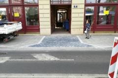 Budowa wjazdu - ul. Starowiślna Kraków